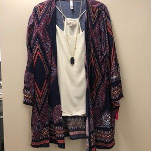 BNWT navy kimono